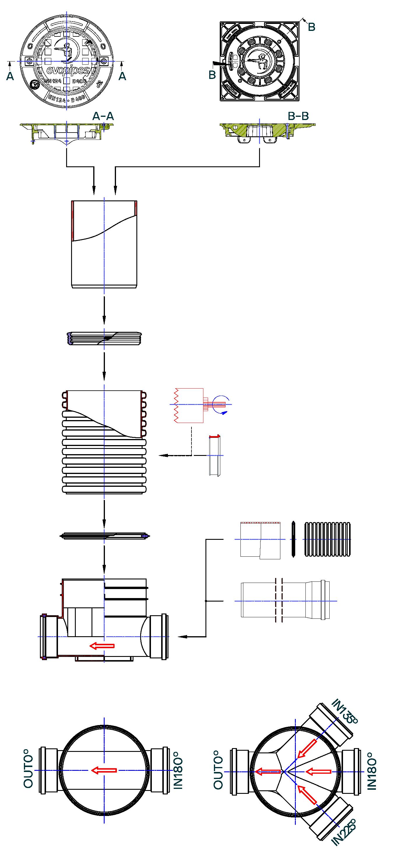Inspection chamber DN 400.315