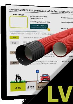 EVOCAB HARD N750 cauruļu minimālie pieļaujamie izbūves dziļumi