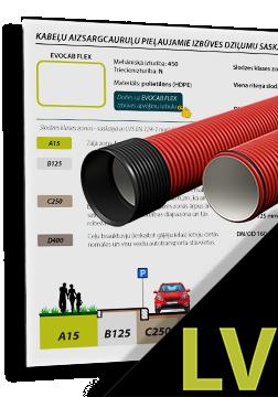EVOCAB SUPERHARD N1250 cauruļu minimālie pieļaujamie izbūves dziļumi