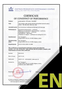 EVOSAN and EVORAIN Certificate ENG (SPSC)