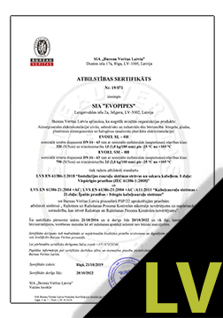 EVOAQUA un VISIO Sertifikāts LV
