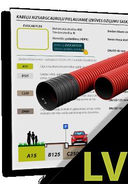 EVOCAB HARD N450 cauruļu minimālie pieļaujamie izbūves dziļumi