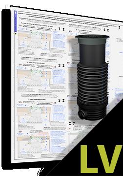 DN 600.500.D400 Teleskopiska tipa lūkas pārsedzes izbūve