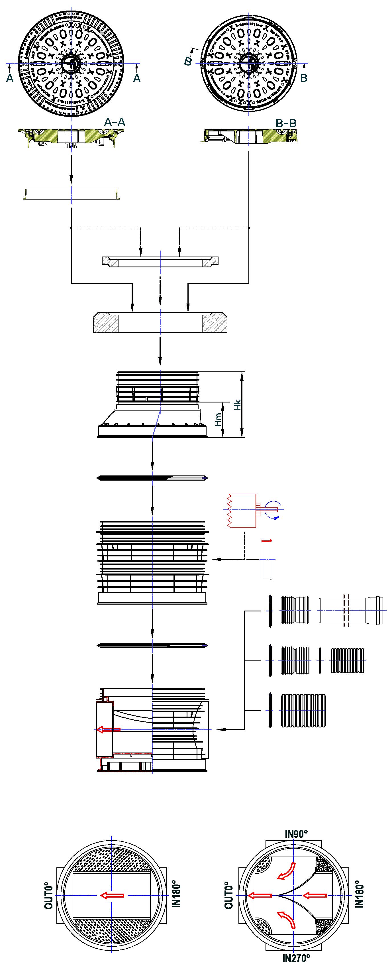 Manhole DN 800.630